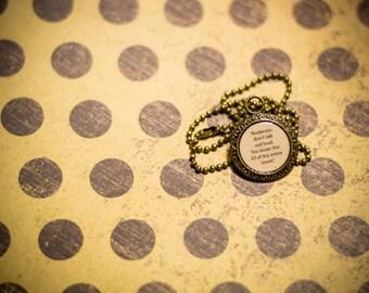 Anderson IQ Quote Pendant: BBC Sherlock Holmes Necklace