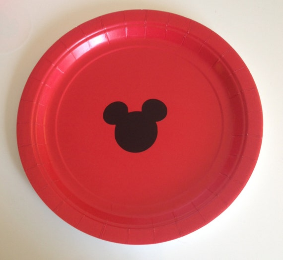 This listing is for 16 Mickey Mouse Party Plates or 8 Party Plates and 8 Party Cups! ~Each red disposable dinner plate is 9  in diameter. & Mickey Mouse Birthday Party Plates | Birthday Wikii