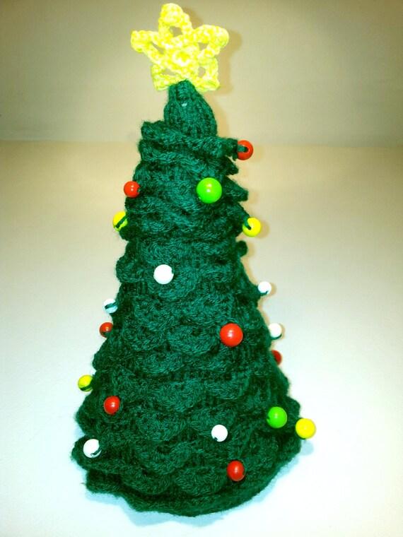weihnachtsbaum gestrickt und geh kelt handgefertigt. Black Bedroom Furniture Sets. Home Design Ideas