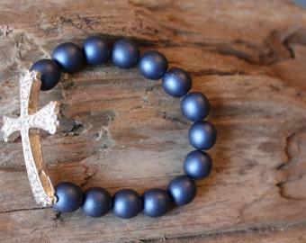 Rhinestone Cross Bracelet