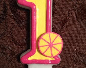 Pink lemonade Birthday Candle