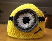 Minion inspired 1 to 3 year old Halloween hat (Ready to Ship)