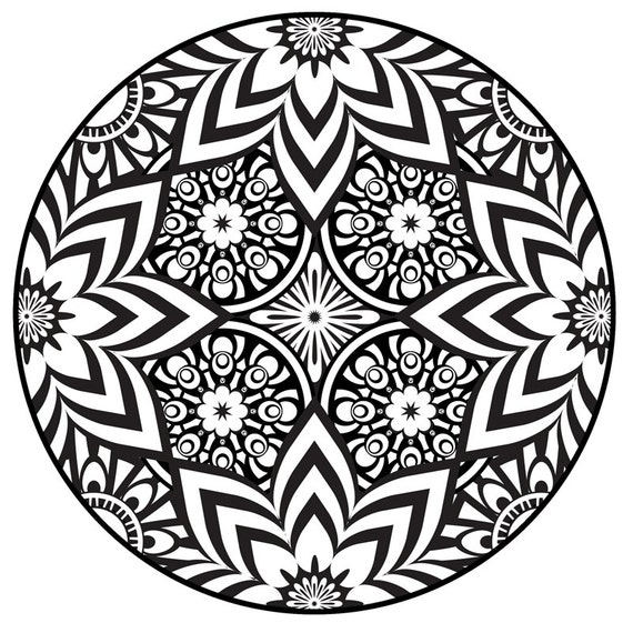 It is a graphic of Astounding Printable Mandala Coloring