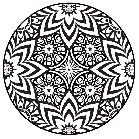 Items Similar To Mandala Coloring Page Instant PDF Download Printable Coloring Page Flowers