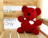 Val the Crochet Stuffed Bear Pattern