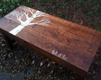 "Beatles Handmade ""Let It Be"" coffee table from reclaimed pallet lumber"