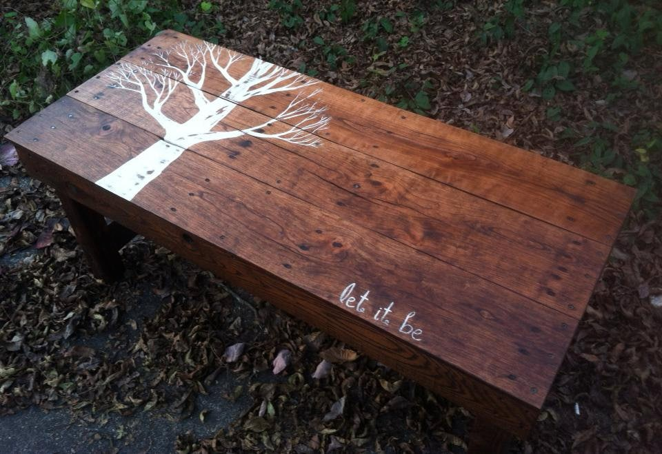 Beatles Handmade Let It Be Coffee Table From