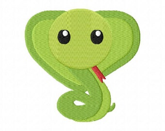 4X4 Baby Snake Machine Embroidery Design Multiple Formats Available - Instant Download