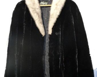 SALE 1950's womens Vintage Fur coat