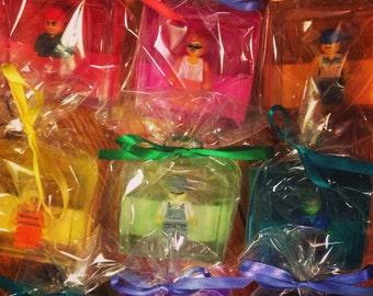 Reserved for Lindsay: Seven pack Soap w/LEGO® Guys Minifigure inside