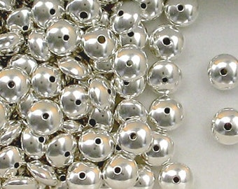 925 Sterling Silver 8mm Plain Rondelle or Saucer Spacer Beads,Choice of Lot Size  608b