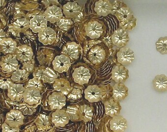14k Gold Fill 5mm Flower  Bead Caps, Choice of Lot Size 185