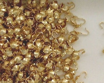 14K Gold Filled 3.5mm Clamshell Bead Tips Choice of Quantity-Price
