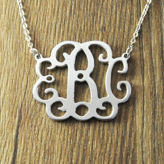 wholesale monogram necklace personalized monogram necklace