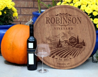Personalized Vineyard Sign
