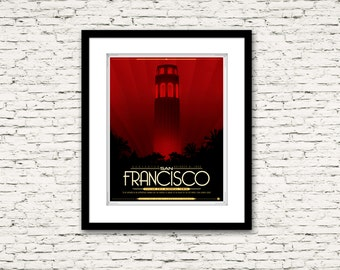 The Streets of San Francisco Series Coit Tower Poster 16x20