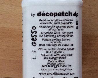 Decopatch white acrylic paint