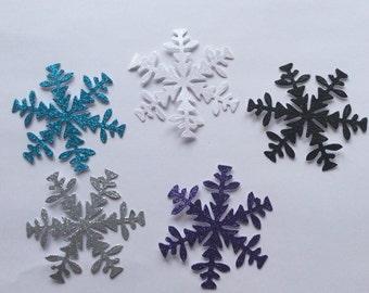 8 Die cut snowflakes