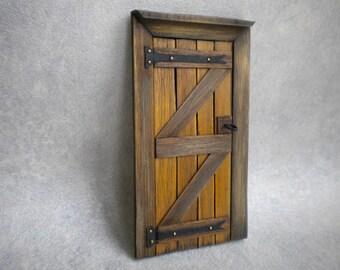 Doll House Wooden Door  Tudor Medieval  Cottage Fairy Wood