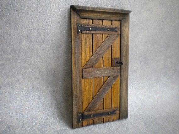 Dollhouse Door Fairy Door Tudor Medieval Cottage Fairy