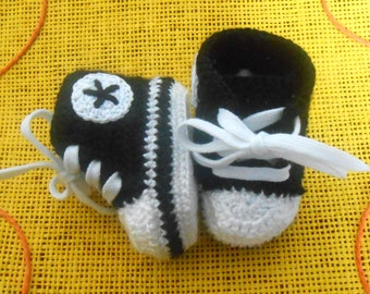baby booties - converse style