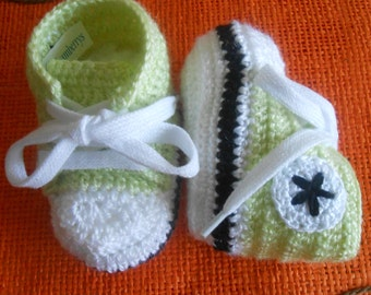 baby booties sports - converse style