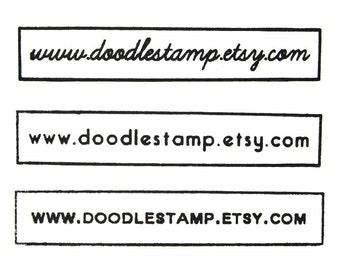 """CUSTOM WEBSITE STAMP - Custom Website Rubber Stamp - website stamp, internet stamp, url stamp, www stamp, custom stamp, web stamp, 3""""x0.6"""""""