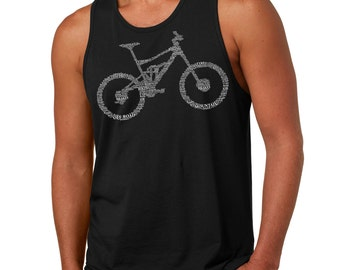 Bicycle Tank Top Mens Jersey Tank Top Gift For Him Biker BMX Bike