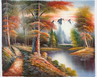 Mountain Path -- Original Oil Painting on Canvas -- 20 x 24
