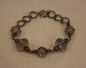 Wrapped Glass Bead Bracelet