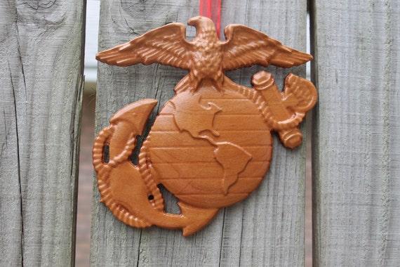Marine Corps Eagle Globe and Anchor Christmas Ornament