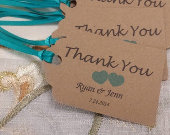 """Personalized Favor Tags 2.5L''x1.8w"""", Wedding tags, Thank You tags, Favor tags, Gift tags, Bridal Shower Favor Tags. tiffany"""