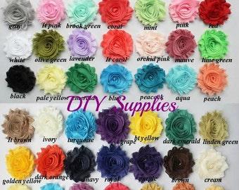 You pick amount shabby flowers - Wholesale flowers - Shabby flower trim - Shabby rose trim - Chiffon trim - Headband flower - Frayed flower