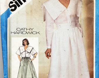 Simplicity Sewing Pattern 6441 Cathy Hardwick Misses' Easy-to-Sew Dress, Top, Skirt Size:  8  Used