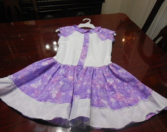 Purple/White Girl's Dress