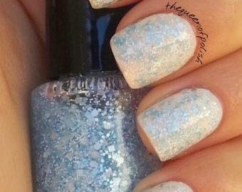 Winter Wonderland - Blue Handmade Glitter Nail Polish