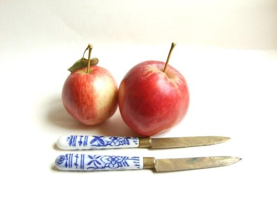 Cuchillos para fruta siglo xix mango porcelana y filo de for Cuchillo fruta