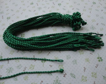 20pcs 3mm 17-19 inch green satin/silk twist necklace cord with connectors