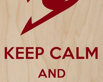 Keep Calm and Eat Some Cake - Plywood Wood Print Poster Wall Art WP - DF - 0451