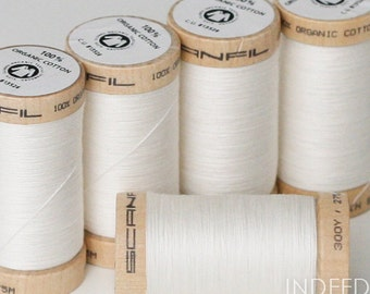 Natural, Scanfil Organic Cotton Thread, 300 Yards, Color #4801
