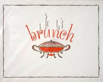 Thermo Glo Brunch invitations and envelopes. Pack of 12. New old stock.