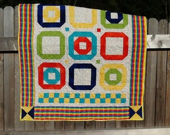 Tic-Tac-Toe Baby Quilt
