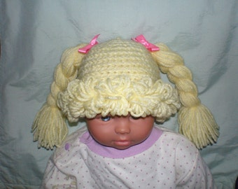 Cabbage Patch Hat / Wig, Any Size Newborn to Adult Available, Many other colors! Fast Shipping!!!! No Waiting List!!!