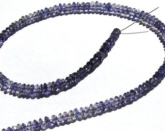 3mm Faceted Iolite Beads- 9 Inches