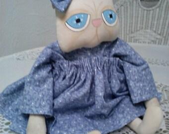 Pretty Persian Folk Art Cat Doll