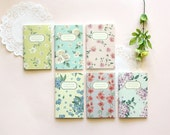 Mini Floral Plain Notebook [Floral pattern S] / Flower Plain Notebook / Blossom Notebook / 10812712