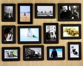 12 SET Black Photo Frame / Wall Deco Photo Frame