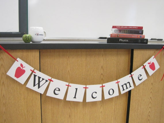 Classroom Welcome Decor ~ Items similar to welcome banner first day of school