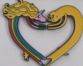 Heart Pair - Lapel, Bag, Hat Pin Adventure Time