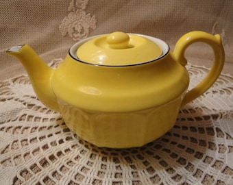 Small Yellow Teapot Signed Czechlovakia 4 Cup